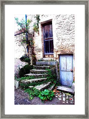 Flavigny Steps Framed Print by Michael Dantuono