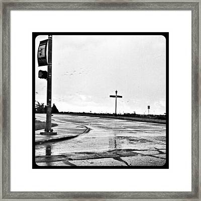 Flawed Streets, Flawless Sky Framed Print by Kel Hill