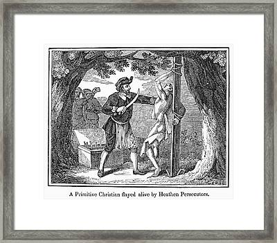Flaying Of Christian Framed Print