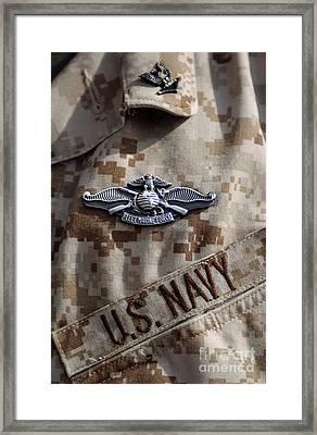 Fleet Marine Force Warfare Device Pin Framed Print by Stocktrek Images