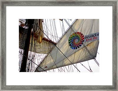 Fleet Week - Ecuador Love Life Framed Print by Maria Scarfone