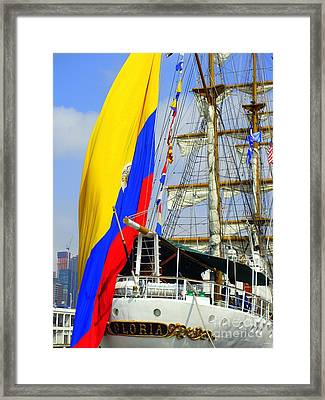 Fleet Week - Gloria Framed Print by Maria Scarfone