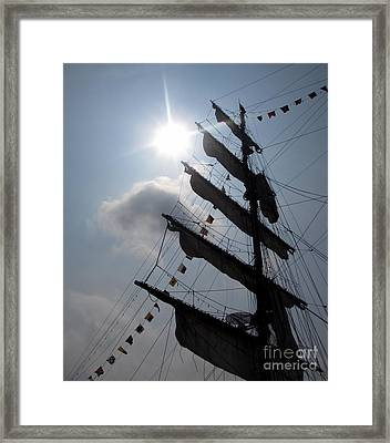 Fleet Week - Main Sail Framed Print by Maria Scarfone