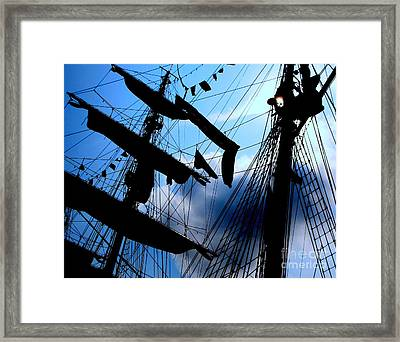 Fleet Week - Masts Framed Print by Maria Scarfone