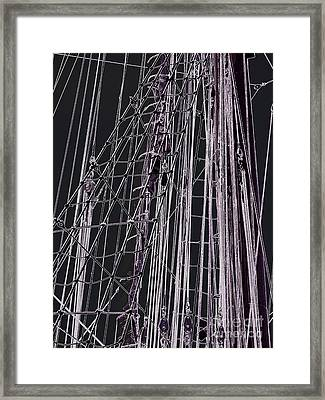 Fleet Week - Ship's Ropes Framed Print by Maria Scarfone