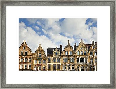 Flemish Architecture In Ypres, Belgium Framed Print