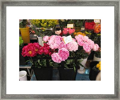 Fleurs Dans La Marche Du Nice Framed Print by Sarah Foley