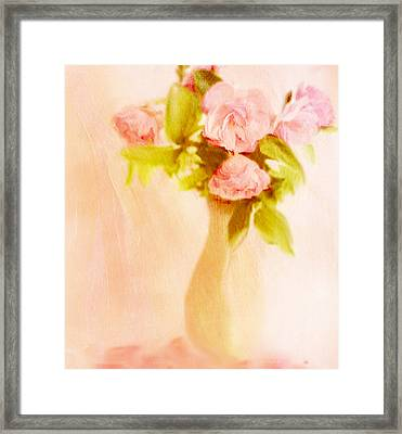 Fleurs Pastel Framed Print