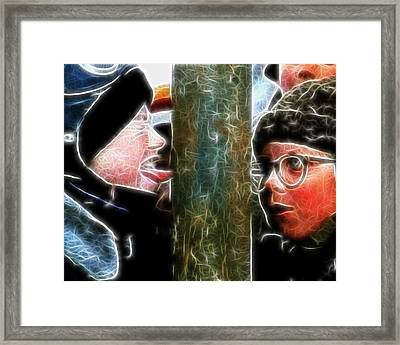 Flick And Ralphie And The Pole Framed Print by Paul Van Scott