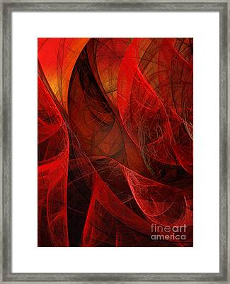 Flickering Flaming Fractal 2 Framed Print by Andee Design