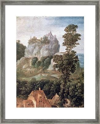 'flight Into Egypt', 16th Century, Painting Framed Print by Photos.com