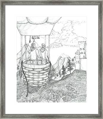 Flight Of Fancy - Sketch Framed Print by Robert Meszaros