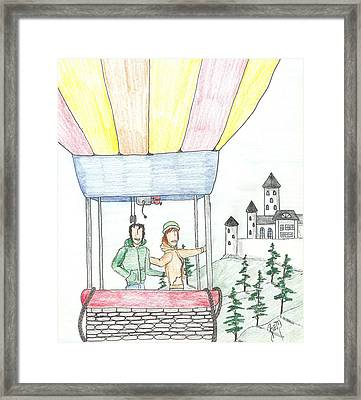 Flight Of Fancy No. Two - Sketch Framed Print by Robert Meszaros