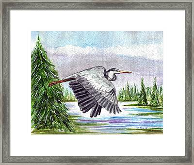 Framed Print featuring the painting Flight Of Fantasy by Clara Sue Beym