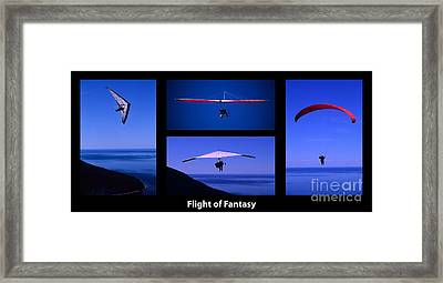 Flight Of Fantasy With Caption Framed Print by Bob Christopher