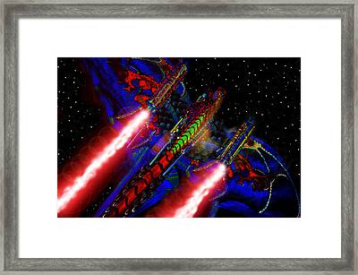 Flight Of The Firey Dragon Framed Print by David Lee Thompson