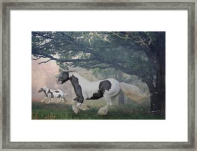 Flight Of The Unicorns Framed Print