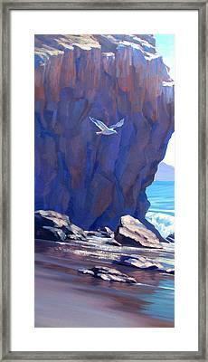 Flight Over El Matador Framed Print by Elena Roche