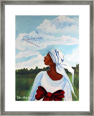 Framed Print featuring the painting Flight Path by Diane Britton Dunham