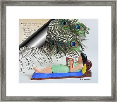 Flight Through Written Words Framed Print