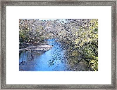 Flint Creek Colcord Oklahoma Framed Print by Michele Carter