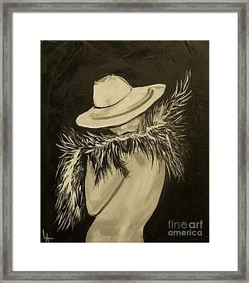 Flirt Three Framed Print by Leslie Allen