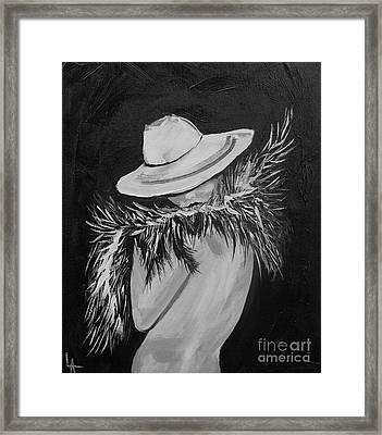 Flirt Two Framed Print by Leslie Allen
