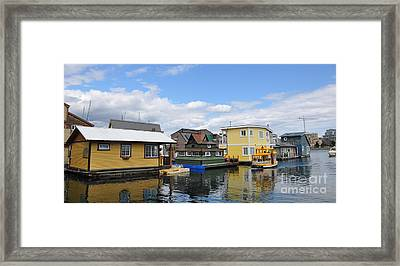 Float Houses In Victoria Canada Framed Print