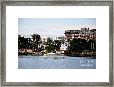 Float Plane In Victoria Inner Harbor Framed Print by Tanya  Searcy