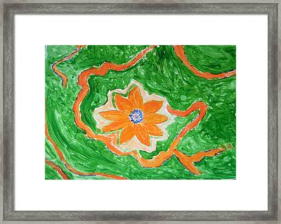 Framed Print featuring the painting Floating Flower by Sonali Gangane