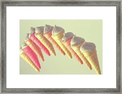 Floating Ice Cream Cones Framed Print