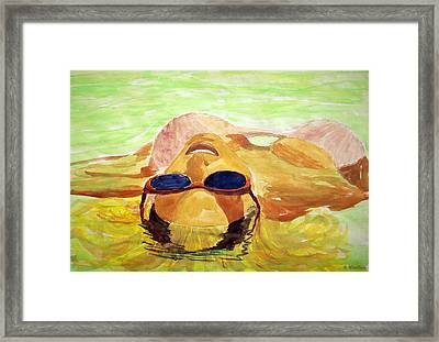 Floating In Water Framed Print by Brian Wallace