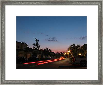 Floating Light Framed Print