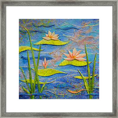 Floating Lilies Framed Print by Carla Parris