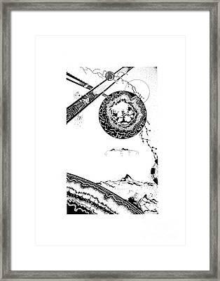 Floating Mountain Framed Print by Jan Adrian Klein Ovink