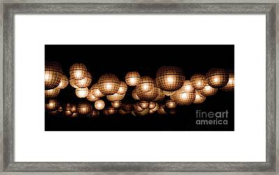 Floating Orbs Framed Print