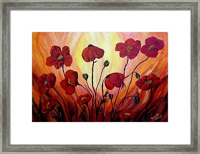 Floating Poppies Framed Print