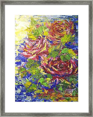 Framed Print featuring the painting Floating Roses by Kathleen Pio