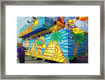 Floating Thru Mardi Gras 2 Framed Print