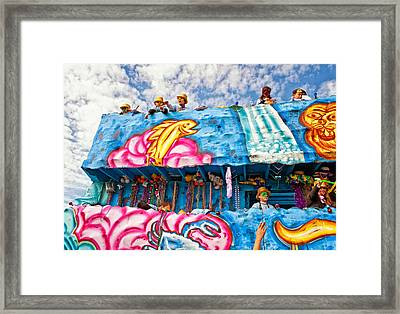 Floating Thru Mardi Gras Framed Print