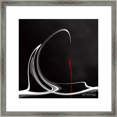 Floating With Red Flow 1 Framed Print