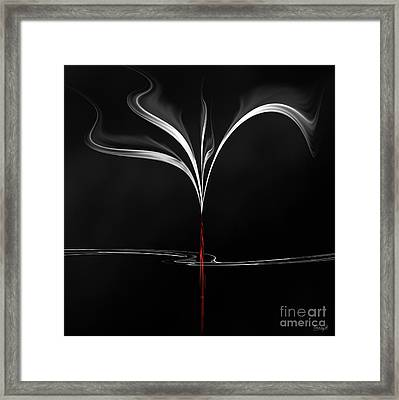 Framed Print featuring the digital art Floating With Red Flow 4 by Johnny Hildingsson