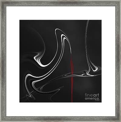 Framed Print featuring the digital art Floating With Red Flow 5 by Johnny Hildingsson