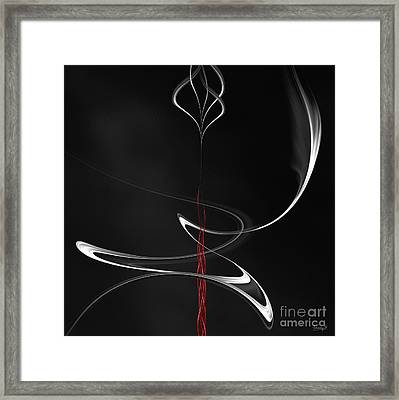 Framed Print featuring the digital art Floating With Red Flow 6 by Johnny Hildingsson