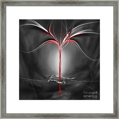 Floating With Red Flow 9 Framed Print