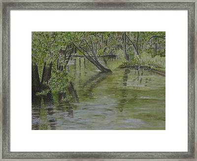 Flood Framed Print by Heather Perez