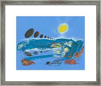 Flood Scape Framed Print by Ralf Schulze