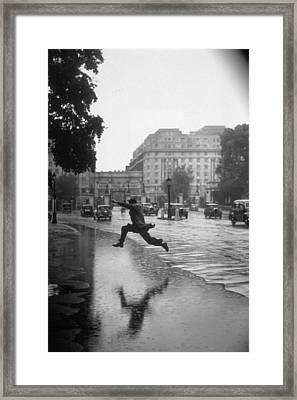 Flooded Road Framed Print