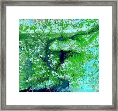 Flooding In Bangladesh Framed Print