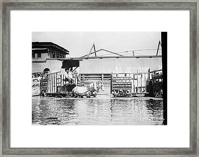 Flooding On The Mississippi River, 1909 Framed Print by Library of Congress
